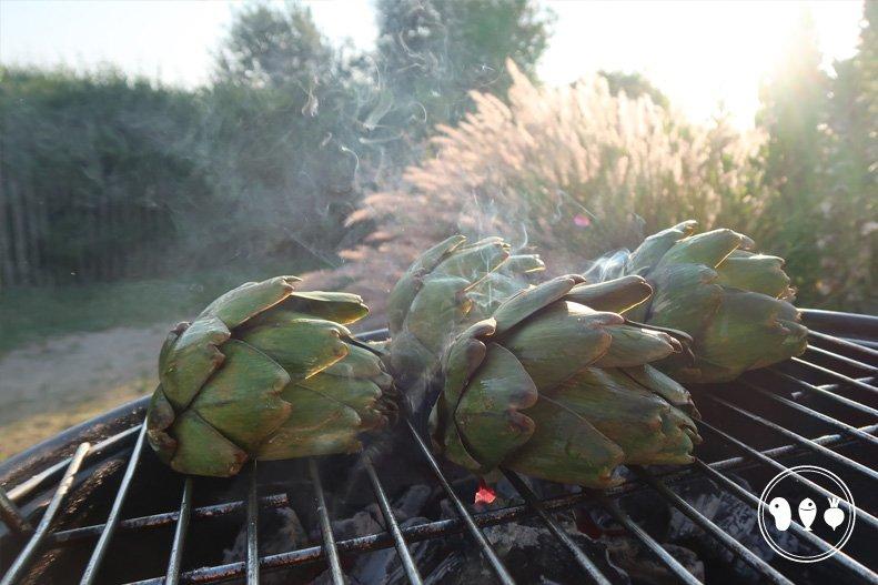 BBQ-en op de camping in Frankrijk
