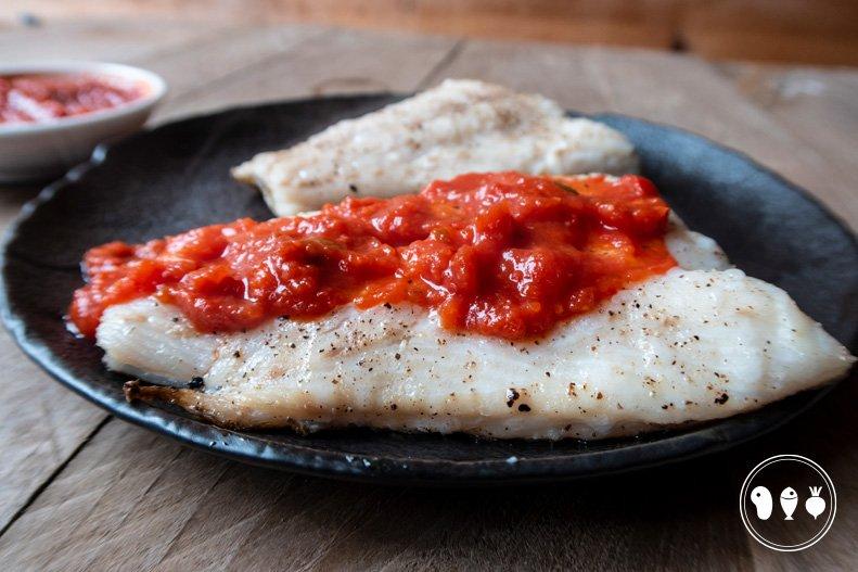 Kabeljauwfilet met salsa rossa