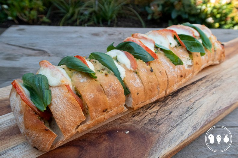 Italiaans borrelbrood, Ciabatta Caprese
